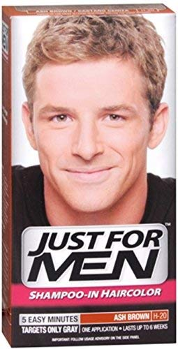 JUST FOR MEN Hair Color H-20 Ash Brown 1 Each (Pack of 4) by Just for Men