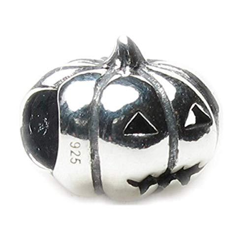 Halloween Jack-o-lantern Pumpkin .925 Sterling Silver Bead Charm Pandora Chamilia Biagi & European Bracelets Compatible]()
