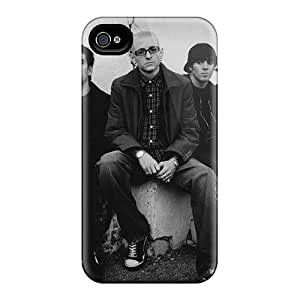 Shock Absorbent Hard Phone Case For Iphone 4/4s With Provide Private Custom Lifelike Linkin Park Skin IanJoeyPatricia
