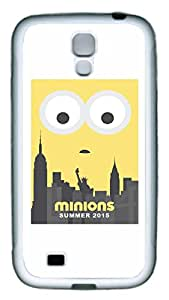Samsung Galaxy S4 Case, Galaxy S4 Case - Thin Fit White Rubber Case for Samsung Galaxy S4 I9500 Minions 2015 Poster Slim Fit Soft Case Cover for Samsung Galaxy S4 I9500