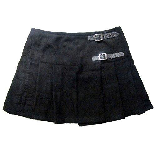 Viper London Ladies' Black 13 Inch Pleated Mini Skirt/Micro Mini Kilt - US 10 (Buckle Pleated)