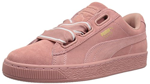 PUMA Women's Suede Heart Satin Wn Sneaker, Cameo Brown-Cameo Brown, 10 M US Heart Sole Sneakers