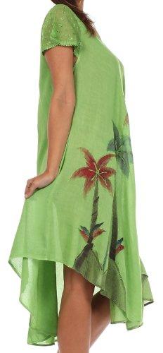Caftan rservoir Sakkas Vert Palmier Robe Aquarelle qU1wPt8