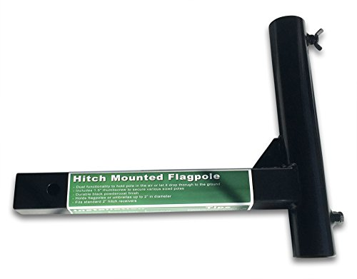 Dragon Slayer Accessories Black Hitch Flagpole Holder by Dragon Slayer Accessories (Image #1)