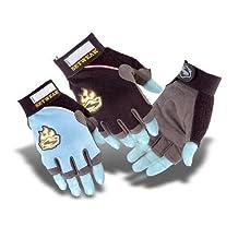 SetWear Ladies Cut Fingerless Gloves, Large (Size 10), Blue