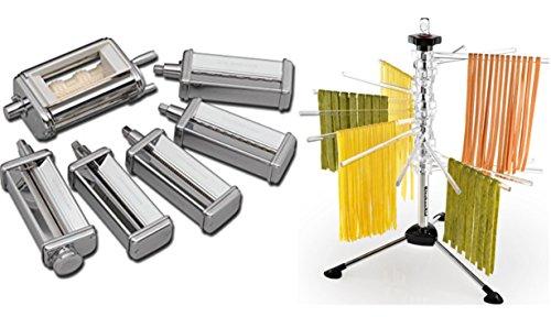 Kitchenaid Pasta Roller Cutter - KitchenAid KPEX Pasta Excellence Set (KPRA + KRAV + KPCA) Attachment Pack + Rack KPDR