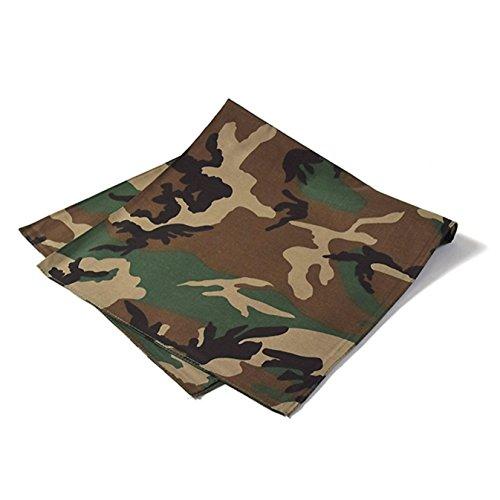 Daily Basic Camouflage Bandana 100% Cotton - 22 inches - Bulk Wholesale Packs (1 -