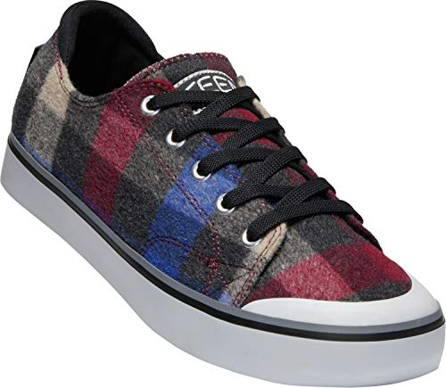 KEEN - Women's Elsa III Canvas Sneaker for Casual Everyday Use, Combo/Black, 7.5 M US