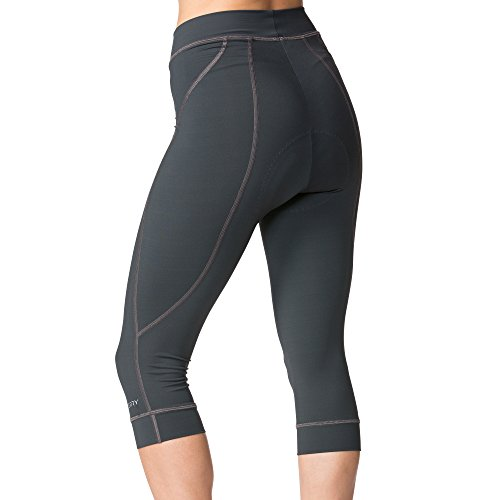 Terry Highly Rated Breakaway Performance Cycling Knickers For Women - Improved For 2018 With More Padded Fleet Chamois - Charcoal - Small by Terry (Image #1)