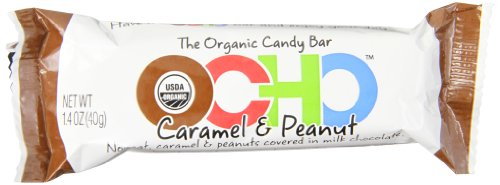 OCHO Organic Candy Bar, Caramel & Peanut, 1.4 Ounce (Pack of 18) (Ocho Chocolate)