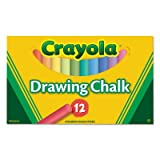 Crayola 510403 Colored Drawing Chalk, 12 Assorted Colors 12 Sticks/set