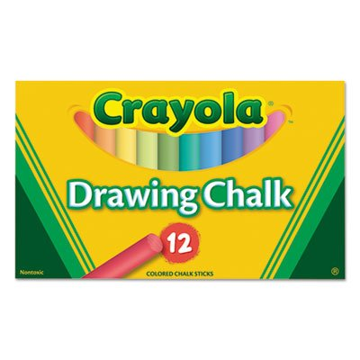 Colored Drawing Chalk, 12 Assorted Colors 12 Sticks/Set (56 Sets)