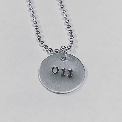 Stranger Things 011 Hand Stamped Aluminum Eleven Necklace