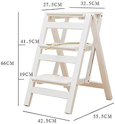 MJY Taburete de paso Madera maciza, Escalera plegable Estante 3 Pasos-Soporte de flores Hogar multifunción Ascender Escalera Escalera pequeña,2#,: Amazon.es: Bricolaje y herramientas