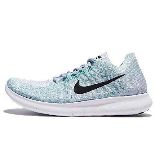 e5a2923e3416 Galleon - Nike Womens Free RN Flyknit 2017 Running Shoe BLUE TINT BLACK-CIRRUS  BLUE-AURORA GREEN 11.0