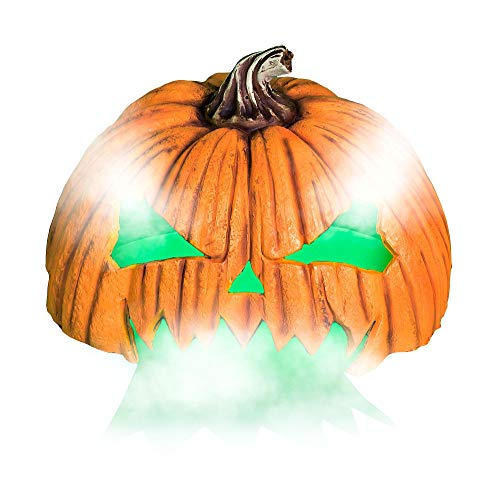 Animated Jack-o'-Lantern Fog Machine Cover Halloween Decoration and Prop, 20 3/4