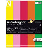 Neenah Astrobrights Premium Color Cardstock Vintage Assortment, 65 lb, 8.5 x 11 Inches, 250 Sheets (21003)