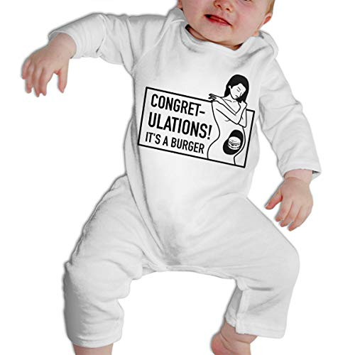 SARA NELL Congretulations It's A Burger Pregnant Baby Bodysuit Jumpsuit Onesies Long Sleeve