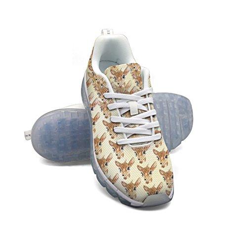 Modello Di Acquerello Cervo Faaerd Mens Traspirante Maglia A Piedi Sneakers Cuscino Daria Scarpe Sportive Traspiranti Scarpe Da Corsa Atletiche