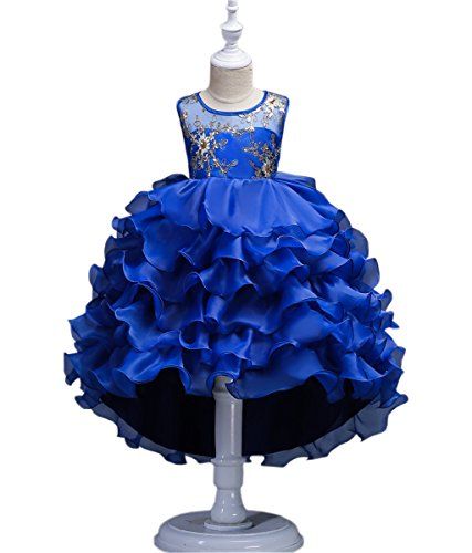 VERNASSA Girl Dress Kids Ruffles Lace Party Wedding Dresses Girl Birthday Party -