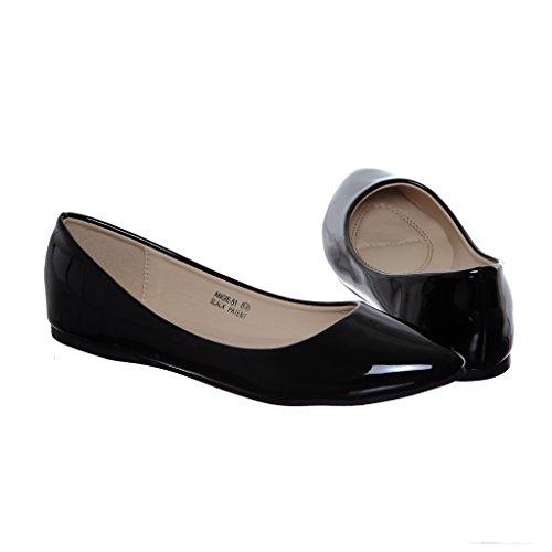 Womens Ballerina Flat Blacka51