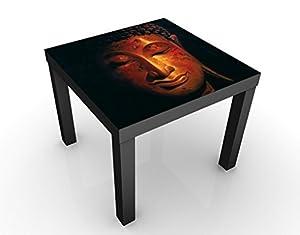 Apalis Tavolino Design Madras Buddha 55x 55x 45cm, Tavolo, Colore: Nero; Dimensioni: 55x 55x 45cm
