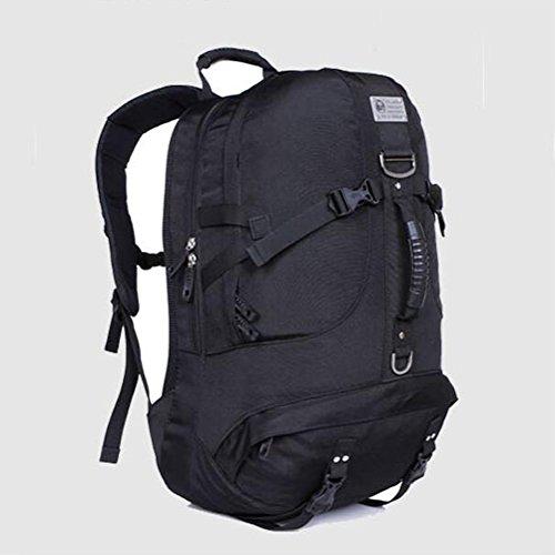 Mochila retro de alta capacidad portátil portátil portátil de camuflaje al aire libre mochila , red Black