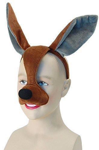 Ladies Mens Girls Boys Brown Kangaroo Animal Halloween Book Day Week Fancy Dress Face Mask with Sound Costume Outfit Accessory (Kangaroo)