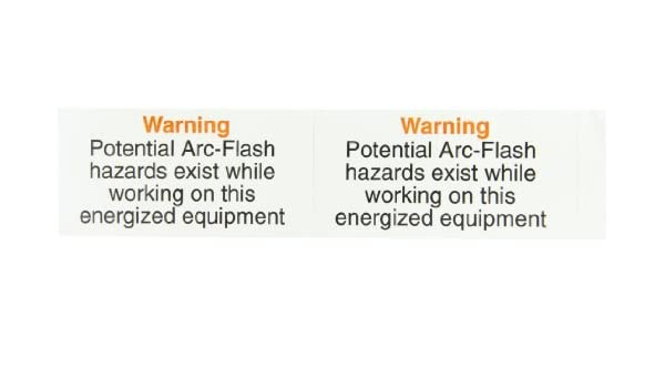 4-1//2 Length x 2-1//4 Width Rigid and Self-Adhesive Safety Sign and Self Adhesive Label LegendWarning Potential Arc-Flash Hazards Exist While Working on this Energized Equipment