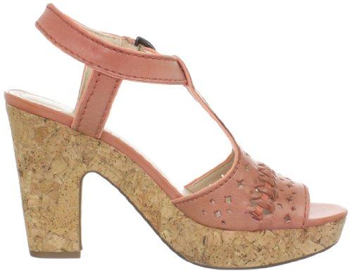Adrienne Vittadini Womens Yanni Platform Sandal Coral WYwxJ8N