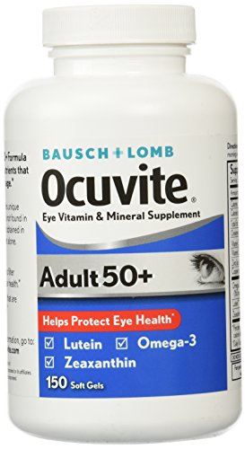 Bausch & Lomb Ocuvite Adult 50+ Eye Vitamin & Mineral Supplement - 150 - Eye Vitamins Bausch Lomb