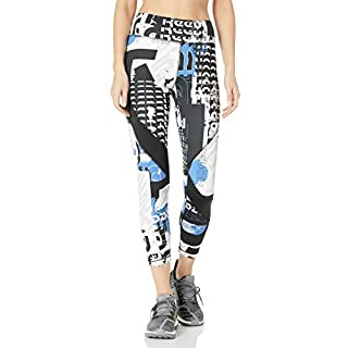 Reebok Workout Ready Meet You There 7/8 Tight, Humble Blue, X-Small