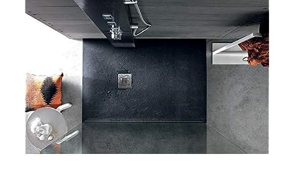 Pizarra acabado texturizado antideslizante de resina de piedra ducha bandeja 1200 x 800 x 30 mm), color gris antracita: Amazon.es: Bricolaje y herramientas