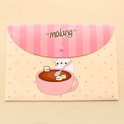 Katoot@ 12 pcs/lot Cute cartoon animal A4 paper file folder bag Kawaii waterproof document bag stationery office school supplies