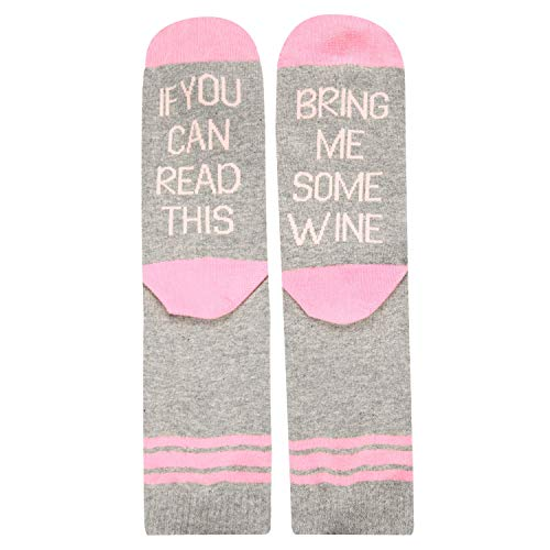 Women's If You Can Read This Funny Sayings Novelty Socks for Wine Lovers (Friends Fun Wine)