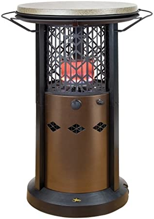 Amazon Com Outdoor Leisure Propane Bistro Table Patio Heater Hammered Bronze Base Cocoa Brown Table Top Td101 Td101a Portable Outdoor Heating Garden Outdoor