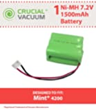 1 Mint 4200 Battery; Fits Mint Automatic Floor Cleaner 4000 series; Designed & Engineered by Crucial Vacuum