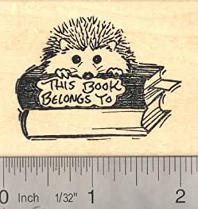 Hedgehog bookplate rubber stamp arts crafts for Rubber stamps arts and crafts