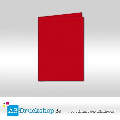 Faltkarte Doppelkarte - Baccara 100 Stück DIN A6 B0794ZFFC6 | Einzigartig