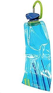 Bolsa de agua - TOOGOO(R) 3pzs 700 ML Bolsa de agua reutilizable plegable Botella de bebida Botella de bicicleta BPA de libre Azul