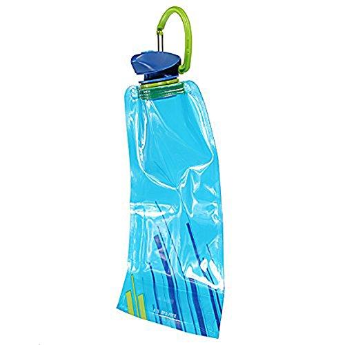 Bolsa de agua - SODIAL(R) 1pzs 700 ML Bolsa de agua reutilizable plegable Botella de bebida Botella de bicicleta BPA de libre Azul