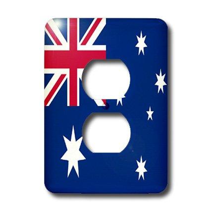 3dRose LLC lsp_4559_6 - Bandera australiana, 2 enchufes