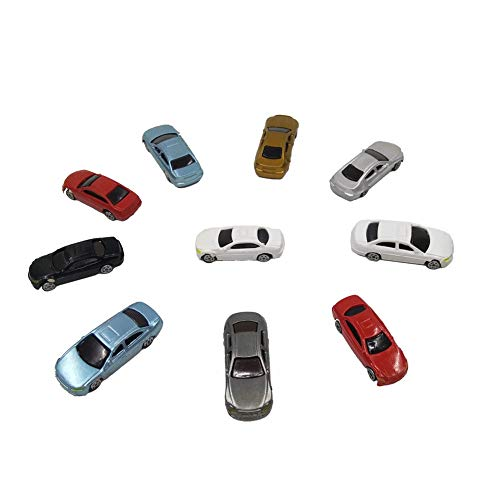 CWBPING 50pcs Painted Model Cars Miniature Resin Scale Model Car Building Train Layout Scale N Z (1 to 200)
