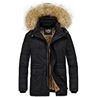 f81e78302 JYG Men's Winter Thicken Coat Quilted Puffer Jacket with Removable Hood