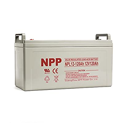 Best Cheap Deal for NPP 12V 120 Amp NPL12 120Ah Rechargeable Sealed Lead Acid Deep Cycle Battery With Button Style Terminals from NPP - Free 2 Day Shipping Available