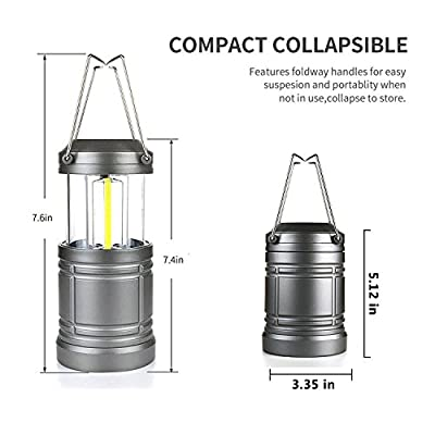 2 Pack Collapsible Camping Lantern Military Tac Light Lantern with Magnetic Base Ultra Bright COB LED for Camping Hiking Power Outage
