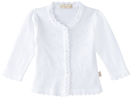 Lilax Baby Girls#039 Little Hearts Knit Cardigan Sweater 6M White