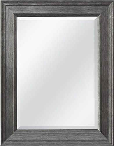 - MCS 15.5x21.5 Inch Wall Mirror, 21.5x27.5 Inch Overall Size, Pewter (20448) (Renewed)