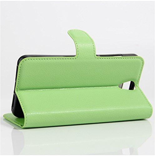 Funda Lenovo VIBE S1 Lite,Manyip Caja del teléfono del cuero,Protector de Pantalla de Slim Case Estilo Billetera con Ranuras para Tarjetas, Soporte Plegable, Cierre Magnético E
