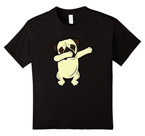 [unisex-child Dabbing Pug Funny Shirt Dab Dog Hip Hop T-Shirt 10 Black] (Teachers Pet School Girl Costume)